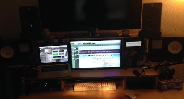 Postazione di lavoro home di Audio Designer