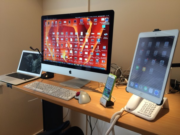Installazione del giornalista su Mac con tastiera accessibile