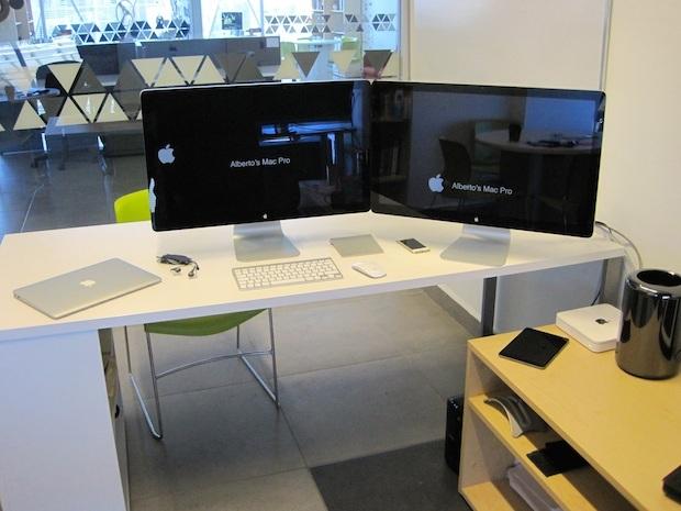 Configurazione della scrivania di Mac Pro