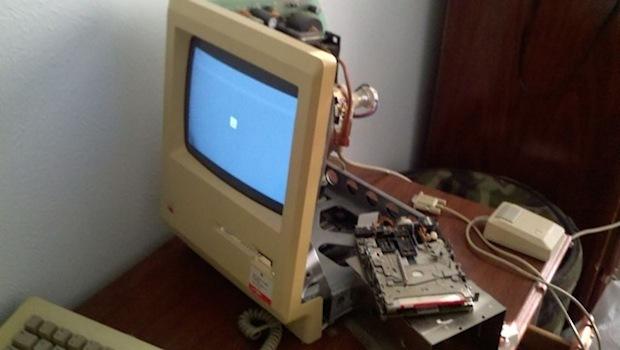 Macintosh 128k aperto e ripristinato