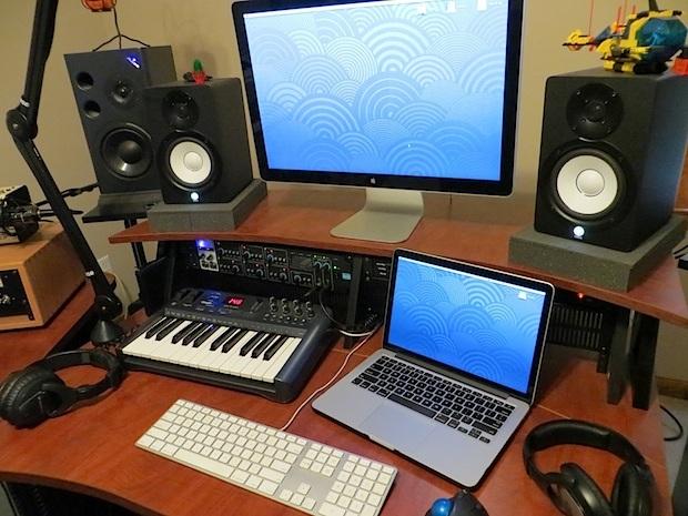 Configurazione dello studio di produzione audio di Mac Pro