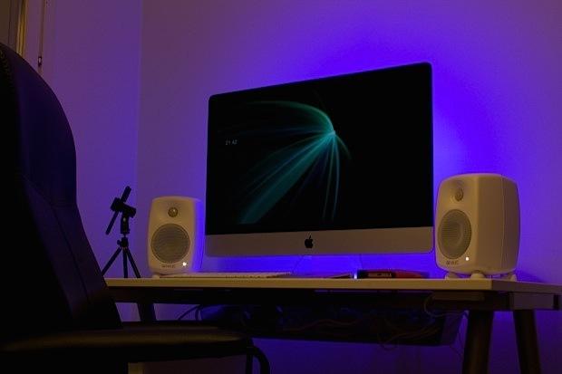Configurazione di iMac di un vlogger