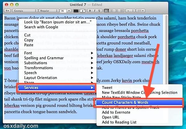 count-parole-caratteri-service-menu-mac-os-x