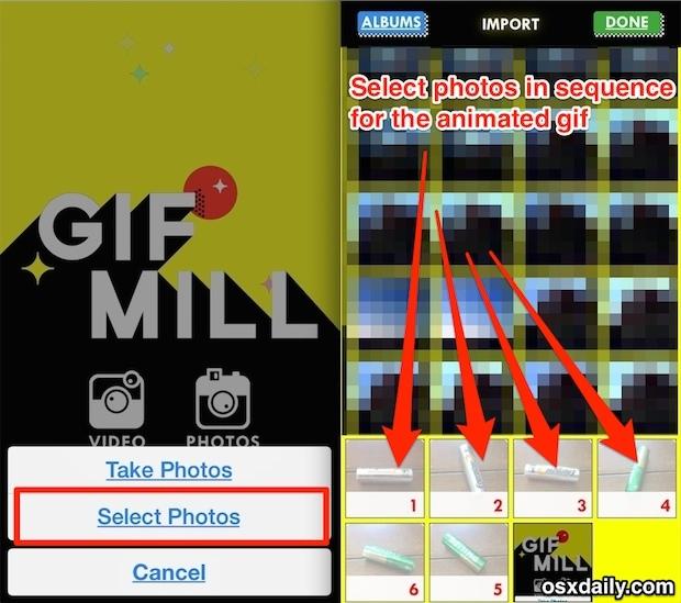 Crea una GIF animata su iPhone