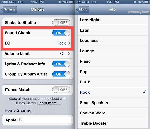 Migliore riproduzione musicale e ascolto in iOS