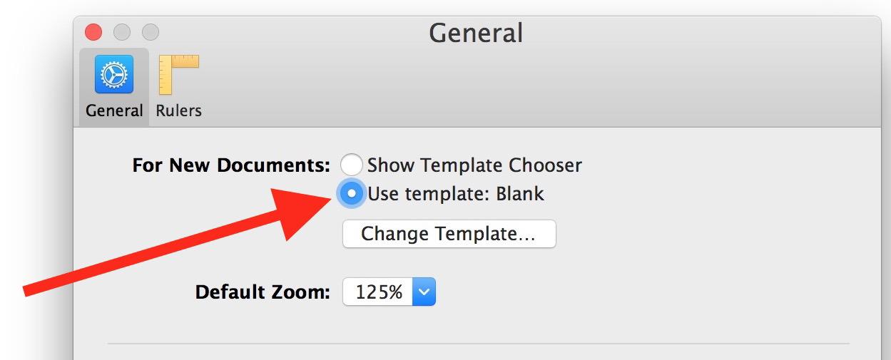 Apri le pagine su un nuovo documento vuoto su Mac