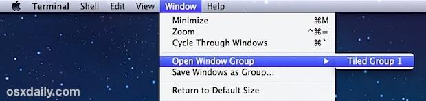 Riprendi e ripristina i gruppi di finestre del terminale in OS X