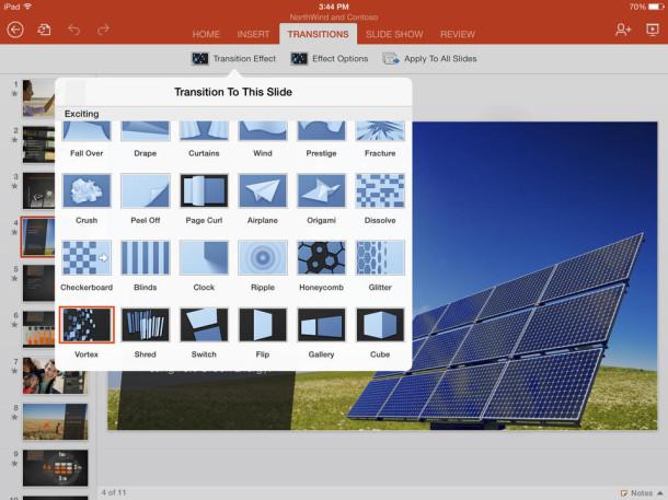 Microsoft Powerpoint per iPad