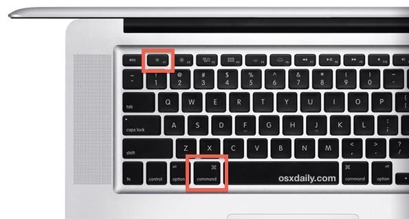 Scorciatoia da tastiera Mac per Mirroring display