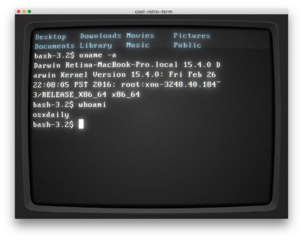 Spostando cursore per parola alla riga di comando di Mac Terminal