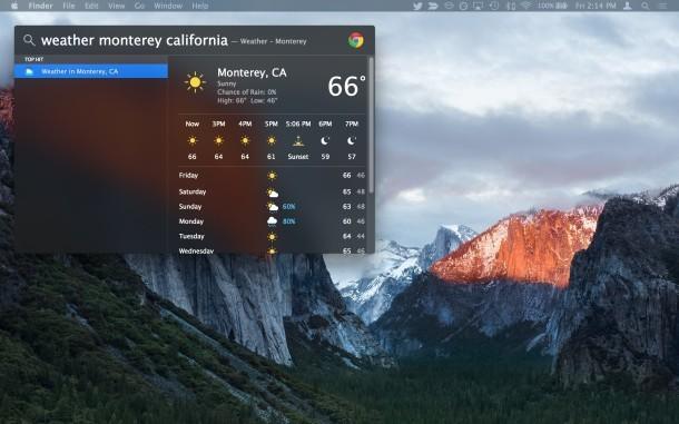 Finestra di ricerca Spotlight spostata MacOS X