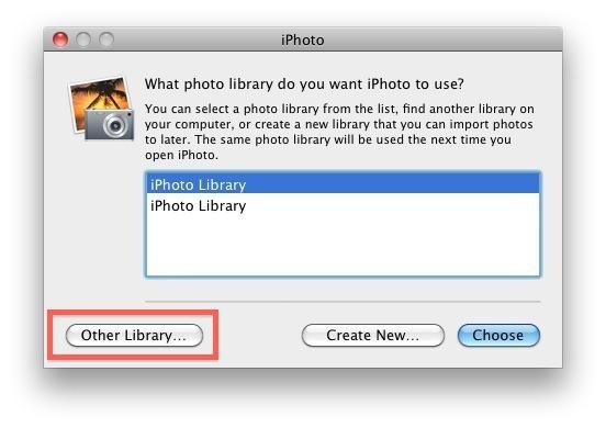 Sposta la libreria di iPhoto