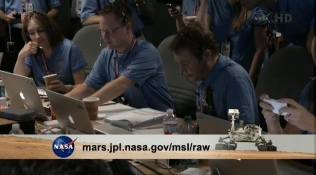 Team della NASA MSL e MacBook Pro