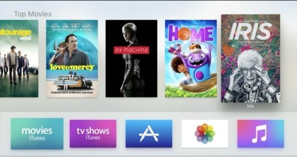 Nuova interfaccia utente di Apple TV