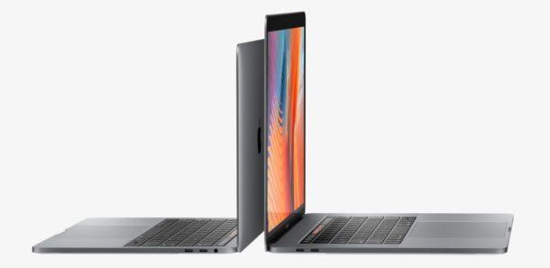 Nuovo modello MacBook Pro da 13 e 15 pollici