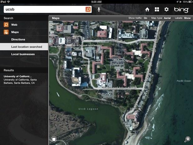 Mappe di Bing per iPad