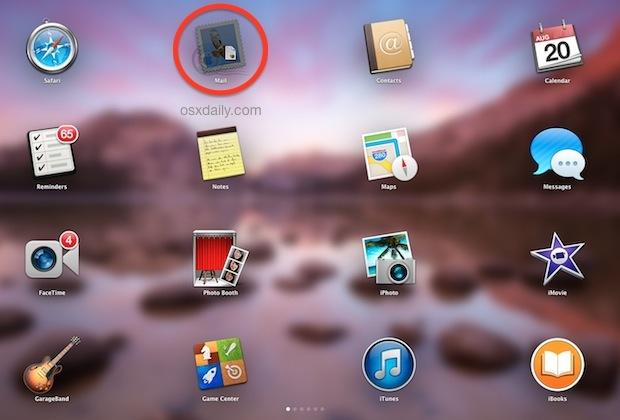 Icona proxy trascinata in Launchpad per l'apertura nella nuova app