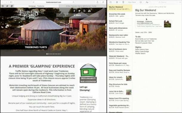 OS X EL Capitan Split Screen View