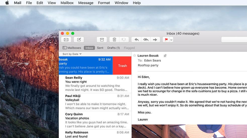 OS X El Capitan nuovo font