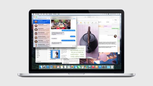 Schermata di Mac OS X El Capitan
