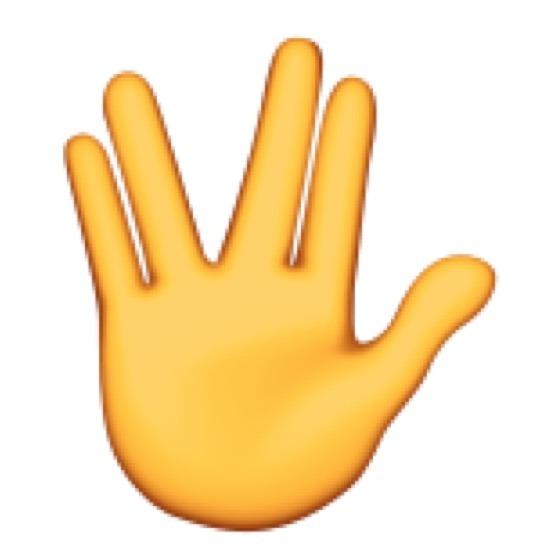 Spock Live Long e Prosper Vulcan Salute Emoji