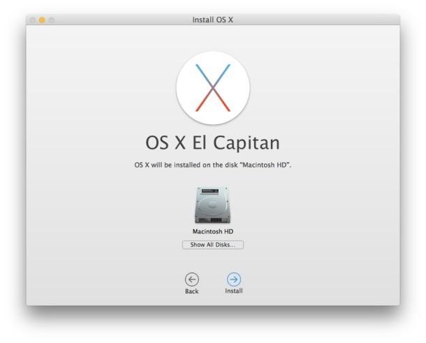 Installazione di OS X El Capitan