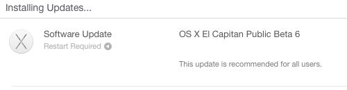OS X El Capitan Public Beta 6