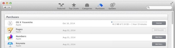Download OS X Yosemite in App Store