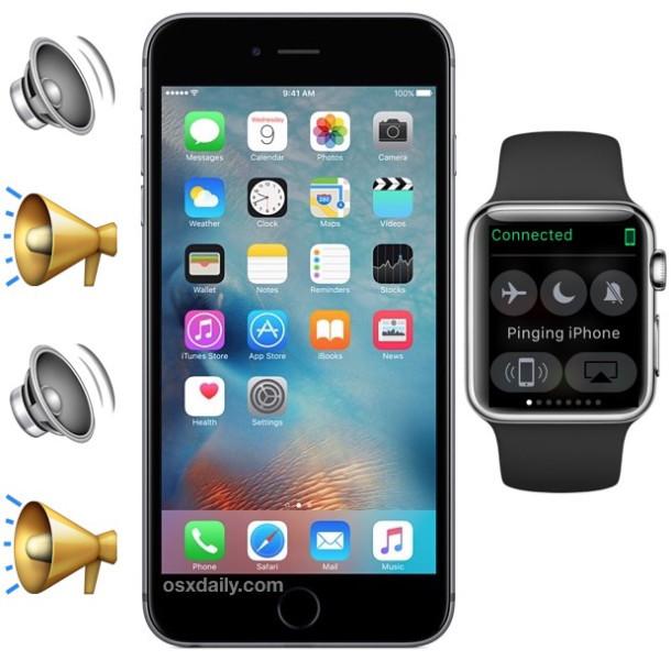 Ping iPhone con Apple Watch per trovare un iPhone fuori posto