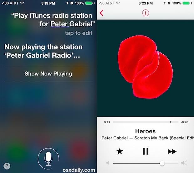 Comandi Siri iTunes Radio