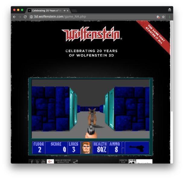 Wolfenstein 3D in un browser web