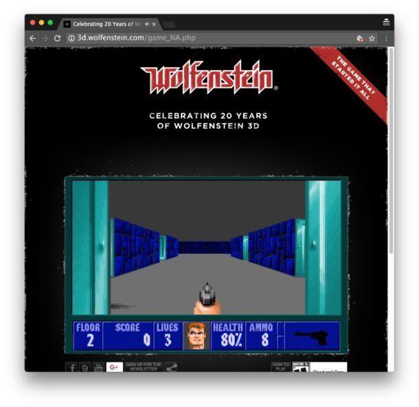 Wolfenstein in un browser web