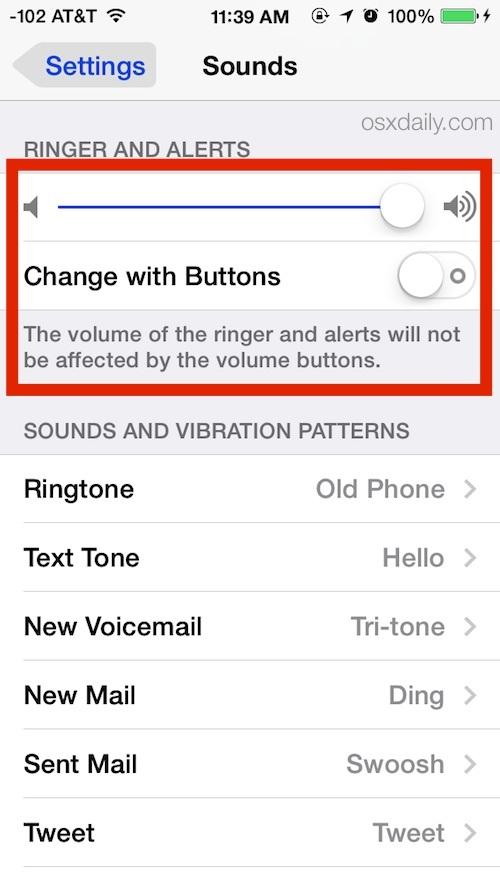 Impedisci ai pulsanti del volume di modificare la suoneria e il volume di avviso su iPhone
