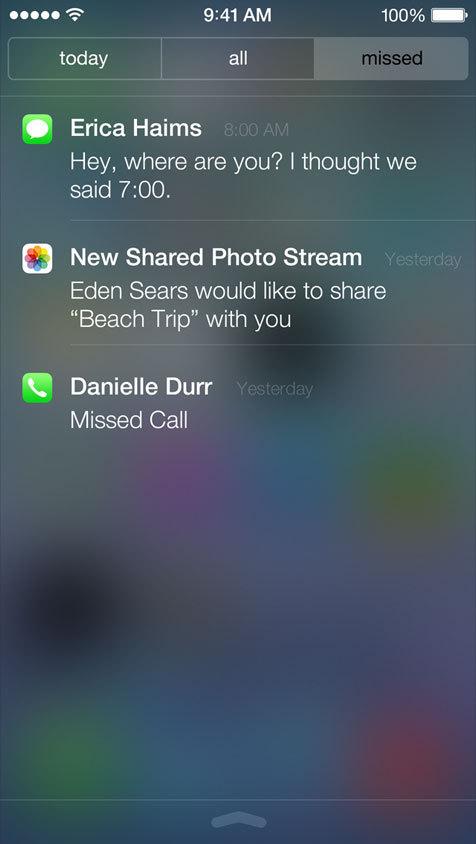 Notifiche in iOS 7