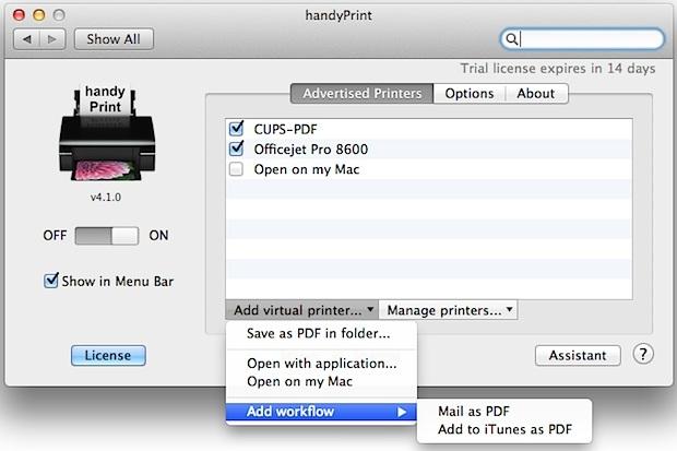 HandyPrint crea una stampante AirPrint su qualsiasi cosa