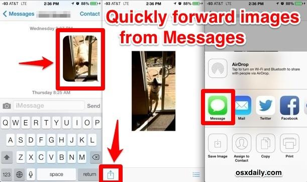 Crea un nuovo messaggio da un'immagine esistente nell'app Messaggi