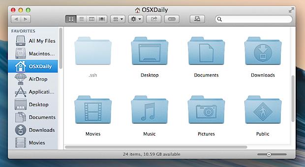 Tema della finestra OS X predefinito