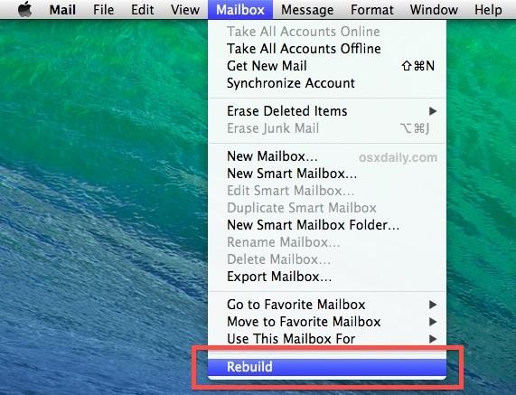 Ricreare la casella di posta nell'app per Mac Mail