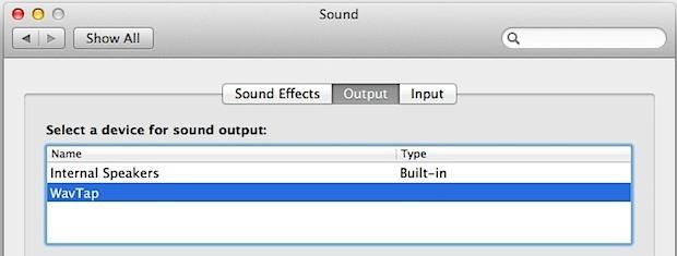 Cattura l'audio mac e registra l'output con Wavtap