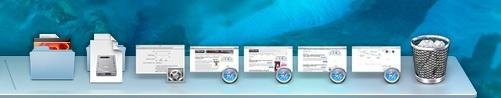 Miniature minime delle finestre nel Dock di Mac OS X