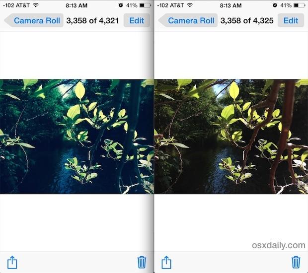 Ripristina un'immagine originale non filtrata da una foto filtrata in iOS