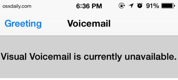 Voicemail non disponibile su iPHone