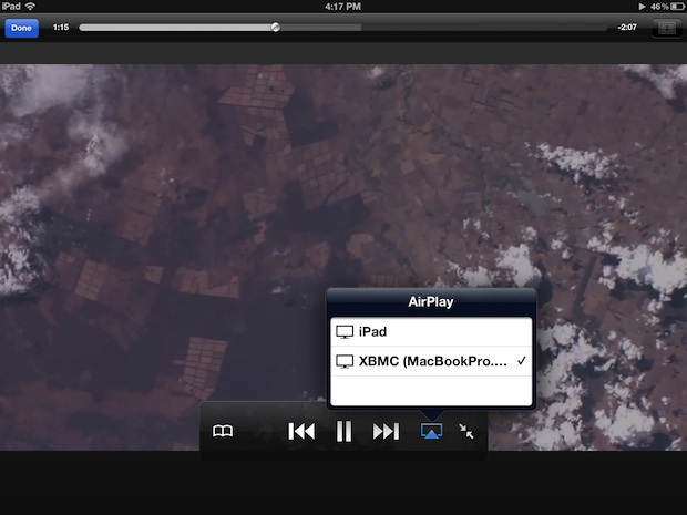AirPlay a XBMC da iOS