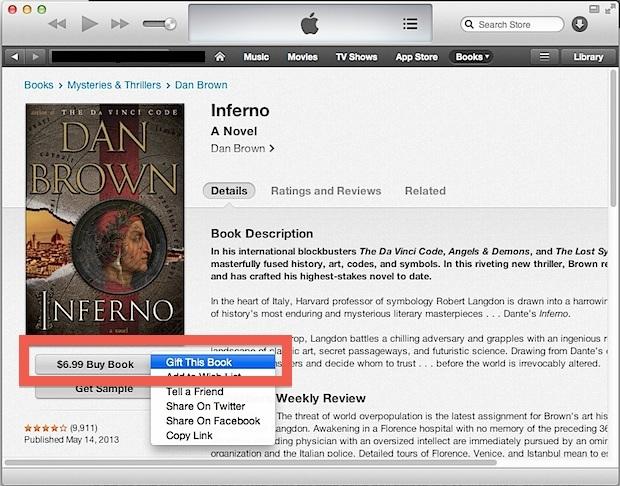Regala un libro da iTunes