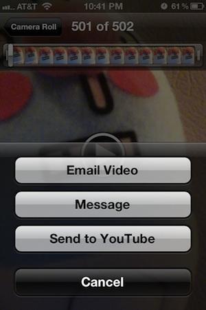Invia un messaggio video da iPhone