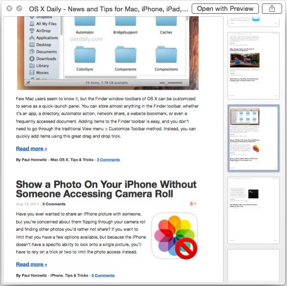 rivedere un file PDF esportato da una sequenza di tasti in Mac OS X