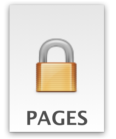 un documento iWork protetto da password in Mac OS X