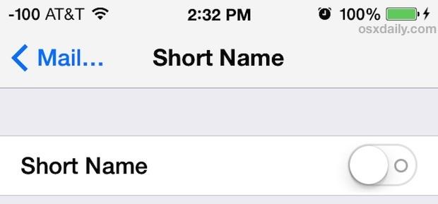 Mostra il nome completo in Messaggi per iOS 7