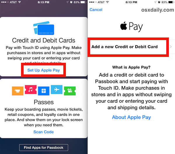 Configura Apple Pay su iPhone