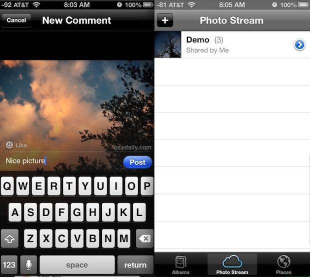 Utilizzo dei flussi di foto in iOS